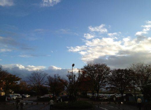 豪雨の後の青空